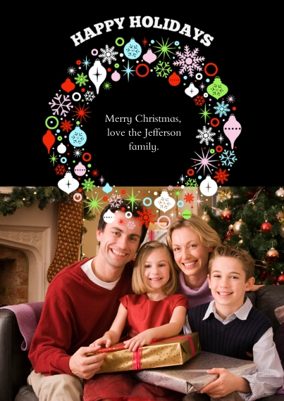 Christmas Photo Cards 5x7 Cards, Standard Cardstock 85lb, Card & Stationery -Bountiful Wreath