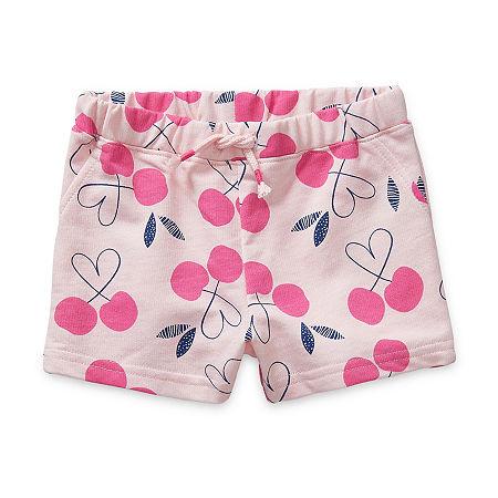 Okie Dokie Baby Girls Pull-On Short, 6 Months , Pink