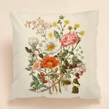 Floral Print Cushion Cover Without Filler