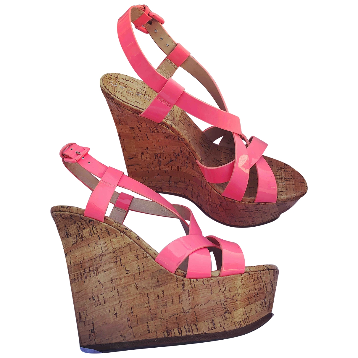 Casadei \N Pink Patent leather Sandals for Women 7.5 US