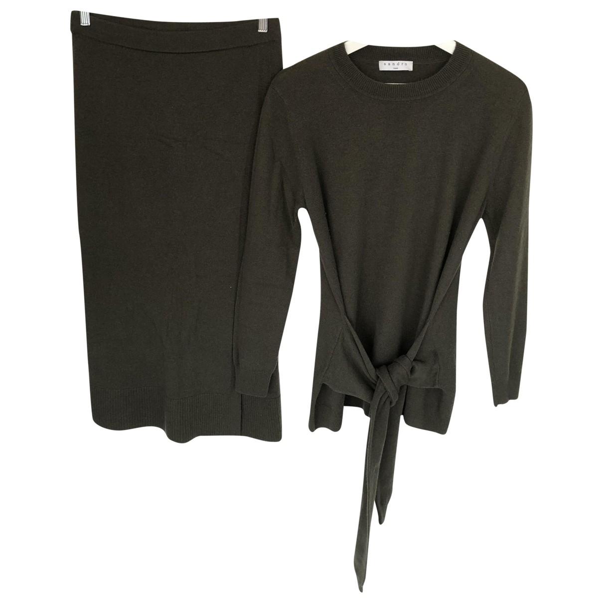 Sandro \N Khaki Wool Knitwear for Women 1 0-5