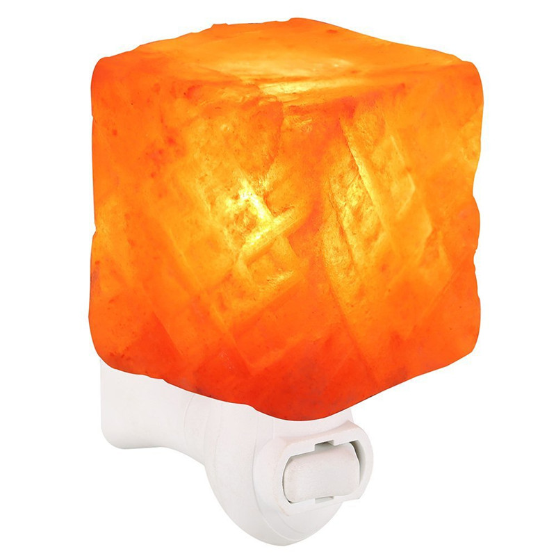 Colorful Square Modern and Concise Style Himalayan Ionic Crystal Salt Lamp