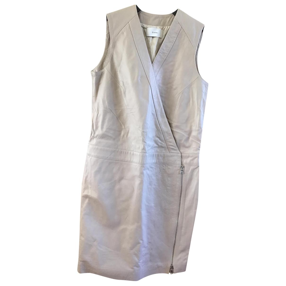 Zapa \N Beige Leather dress for Women 36 FR