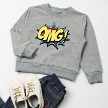 Toddler Boys Pop Art Print Sweatshirt