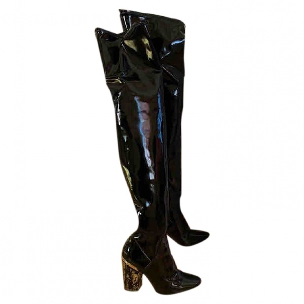 Dior \N Black Patent leather Boots for Women 39 EU