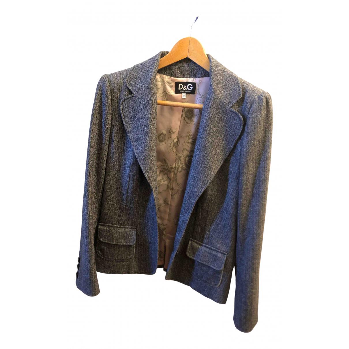 D&g \N Grey Wool jacket for Women 46 IT