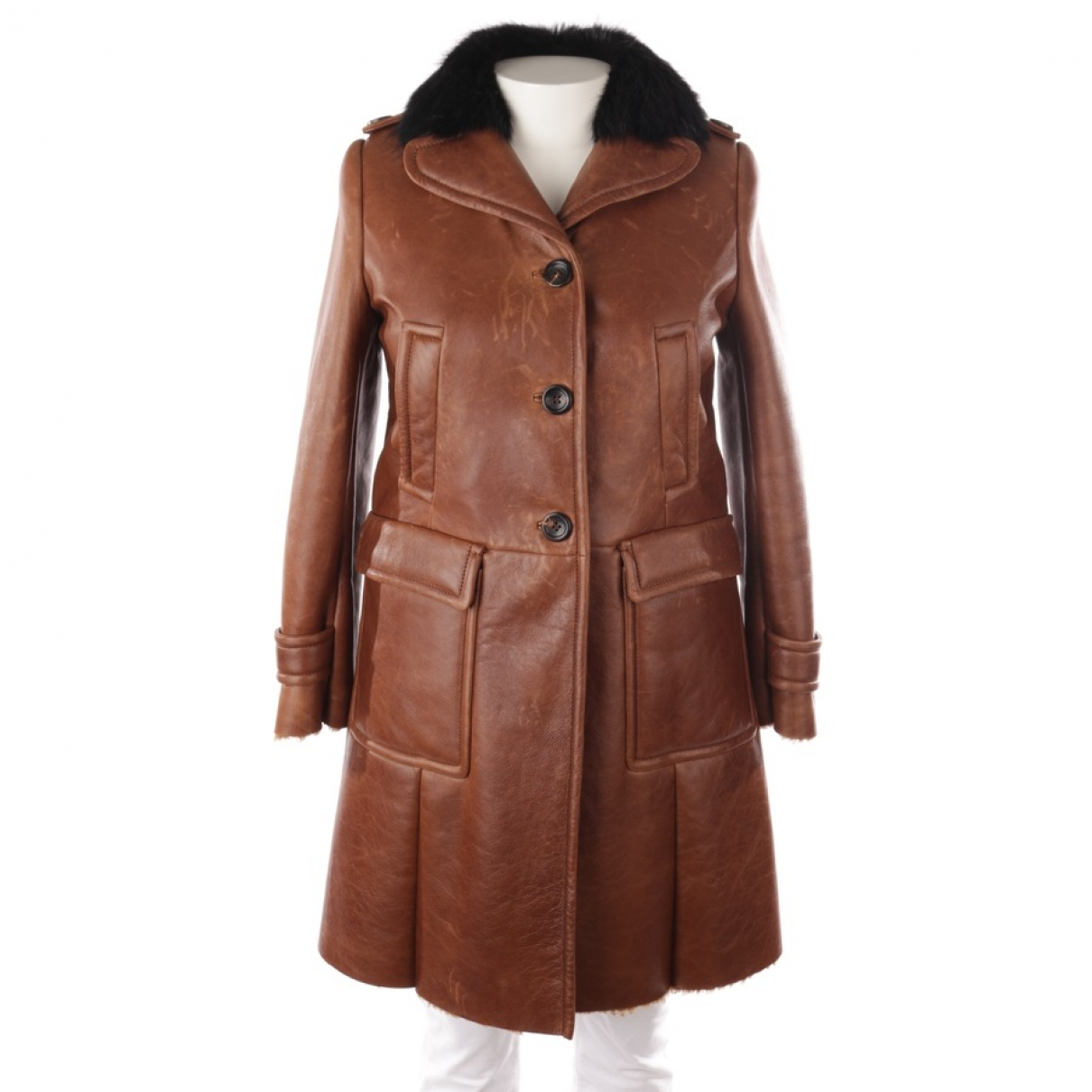 Miu Miu \N Brown Fur jacket for Women 38 FR
