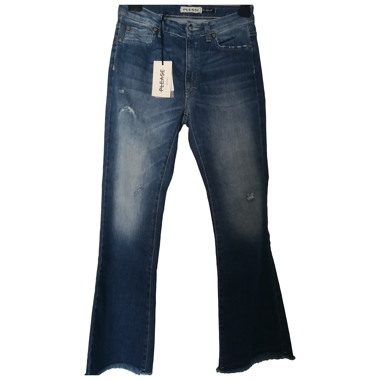 Non Signé / Unsigned Hippie Chic Cotton - elasthane Jeans for Women 32 FR