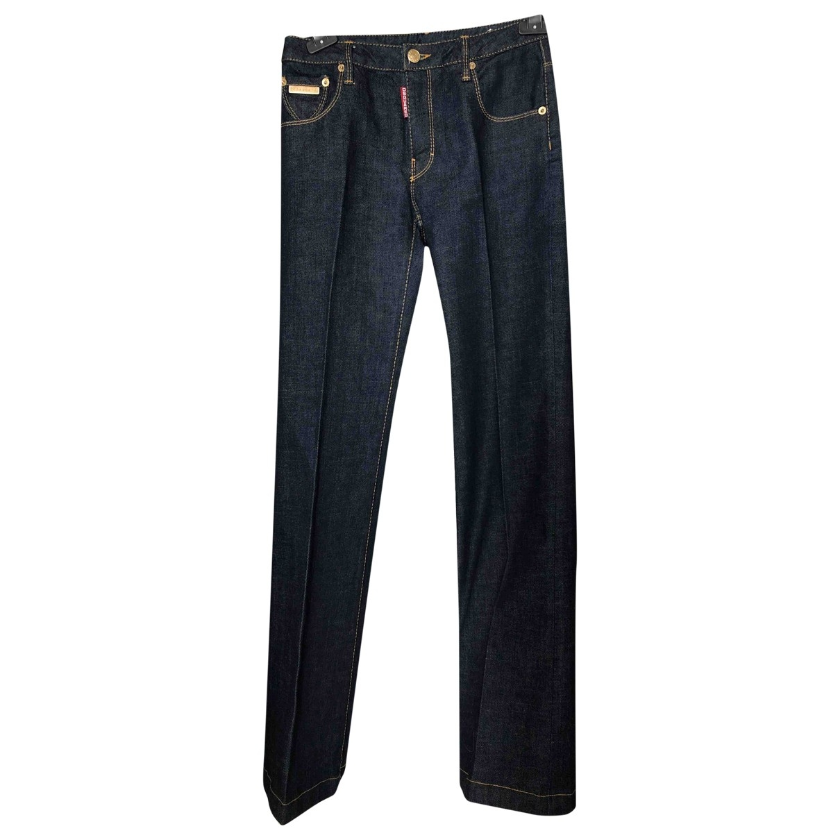 Dsquared2 \N Blue Cotton Jeans for Women 40 FR