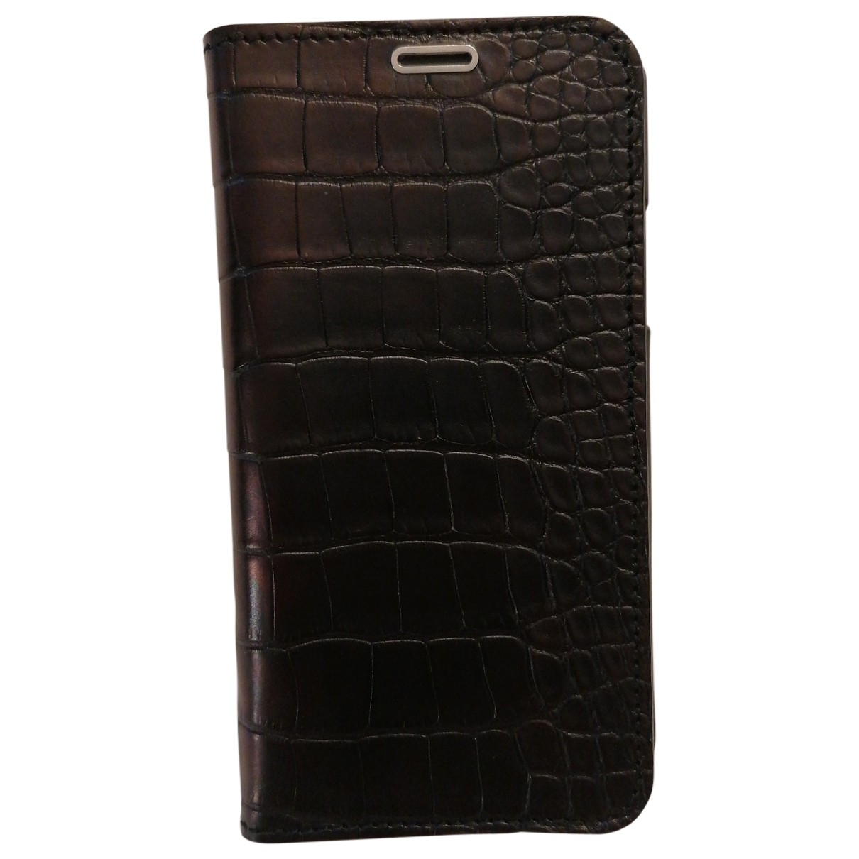 Non Signé / Unsigned \N Black Alligator Accessories for Life & Living \N