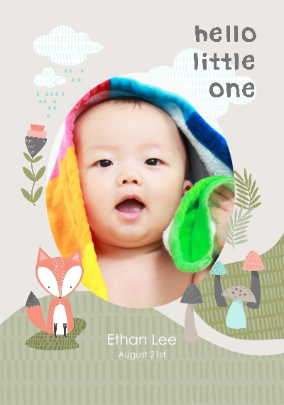 Baby + Kids Canvas Print, 20x30, Home Décor -Little Fox