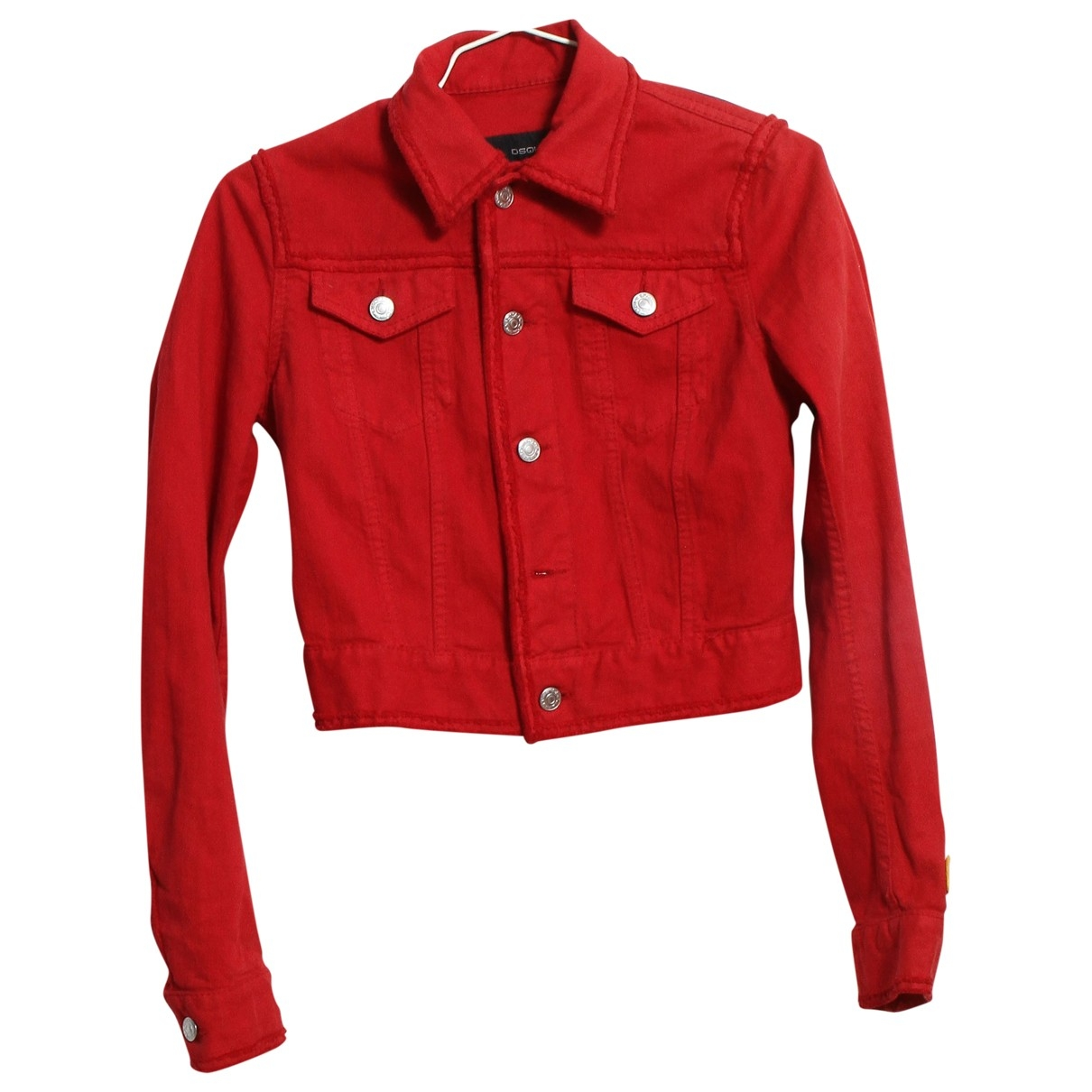 Dsquared2 \N Red Cotton jacket for Women 2 0-5