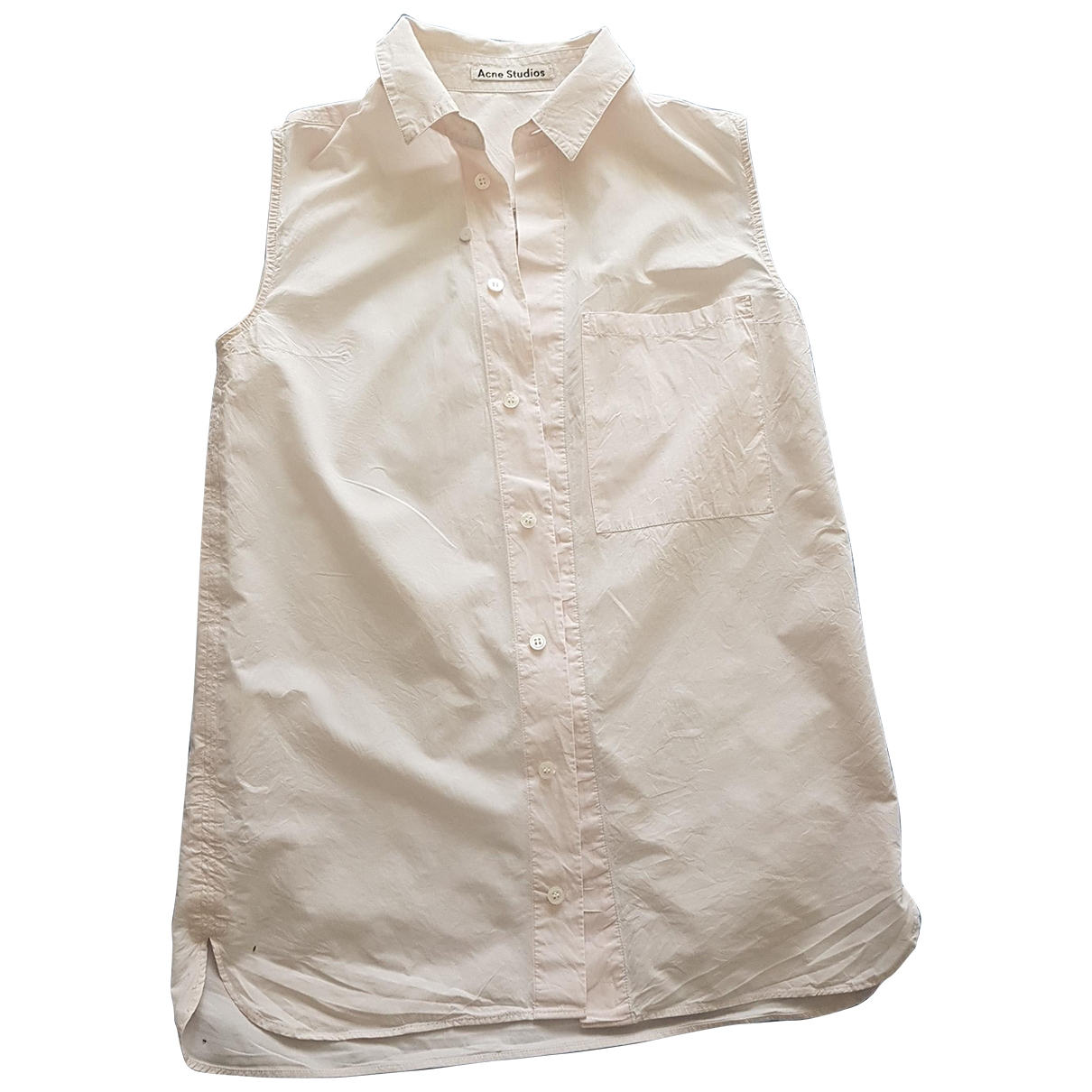 Acne Studios \N Pink Cotton  top for Women 36 FR