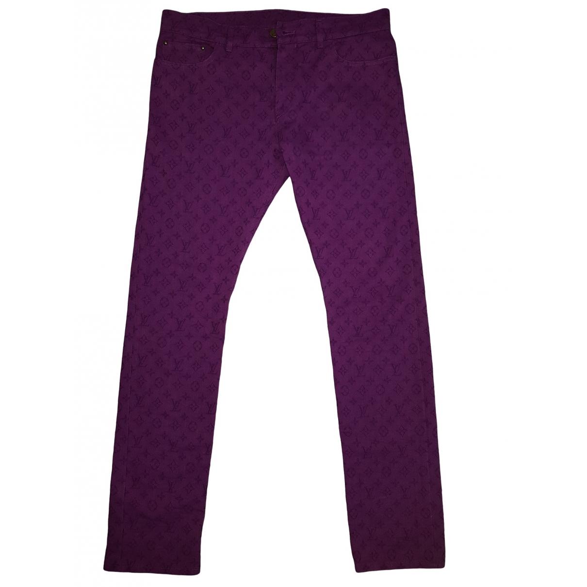 Louis Vuitton \N Purple Cotton Jeans for Men 34 US