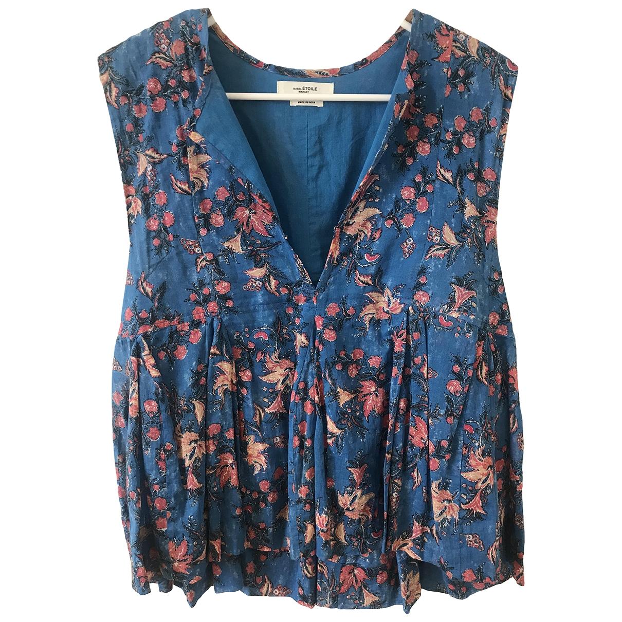 Isabel Marant Etoile \N Blue Cotton  top for Women 40 FR