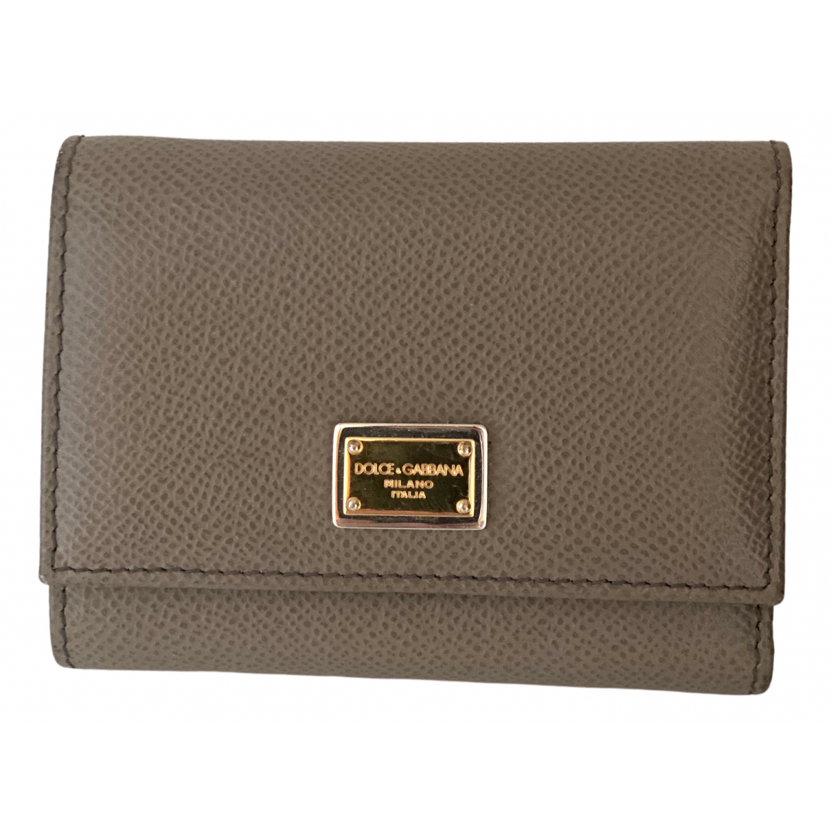 Dolce & Gabbana \N Beige Leather wallet for Women \N