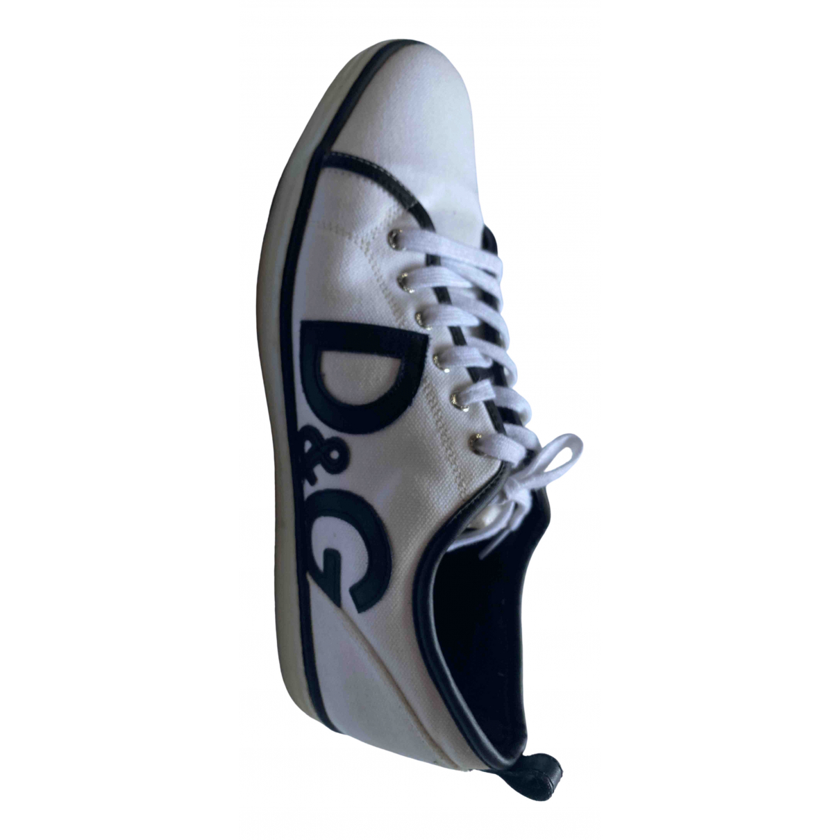 D&g \N White Cloth Trainers for Men 45 IT