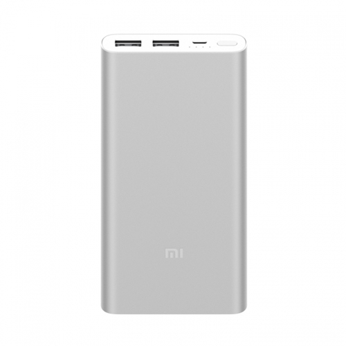 New Xiaomi Power Bank 2 10000mAh Dual USB Ports Two-way Quick Charge - Silver