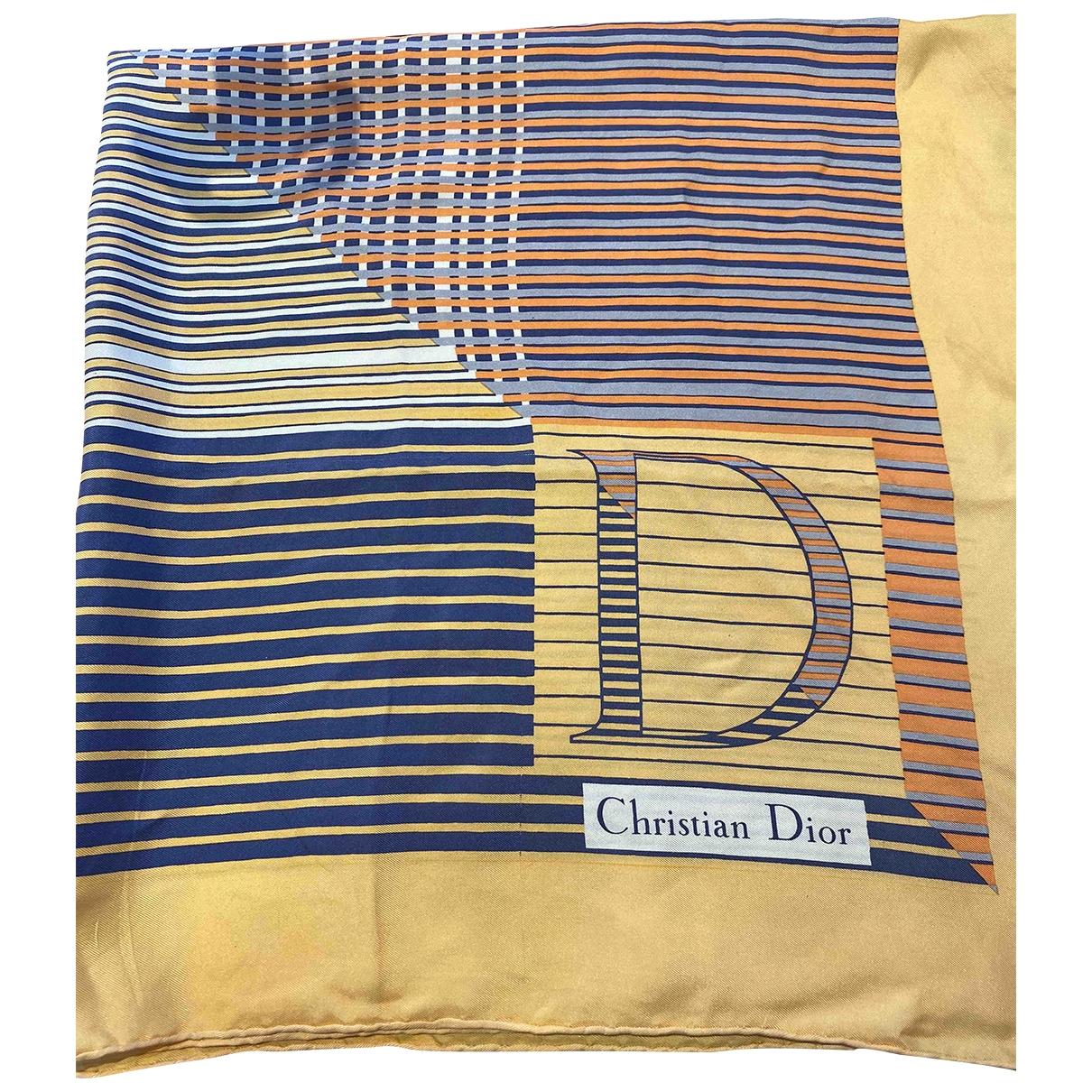 Dior \N Orange Silk Silk handkerchief for Women \N