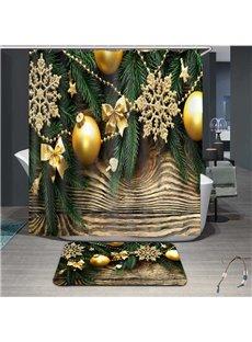 3D High Quality Delicate Christmas Fancy Lantern Print Bathroom Shower Curtain