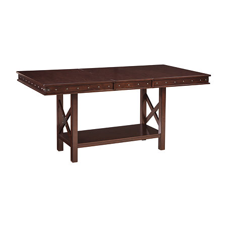 Signature Design by Ashley Collenburg Counter Height Dining Room Table, One Size , Brown