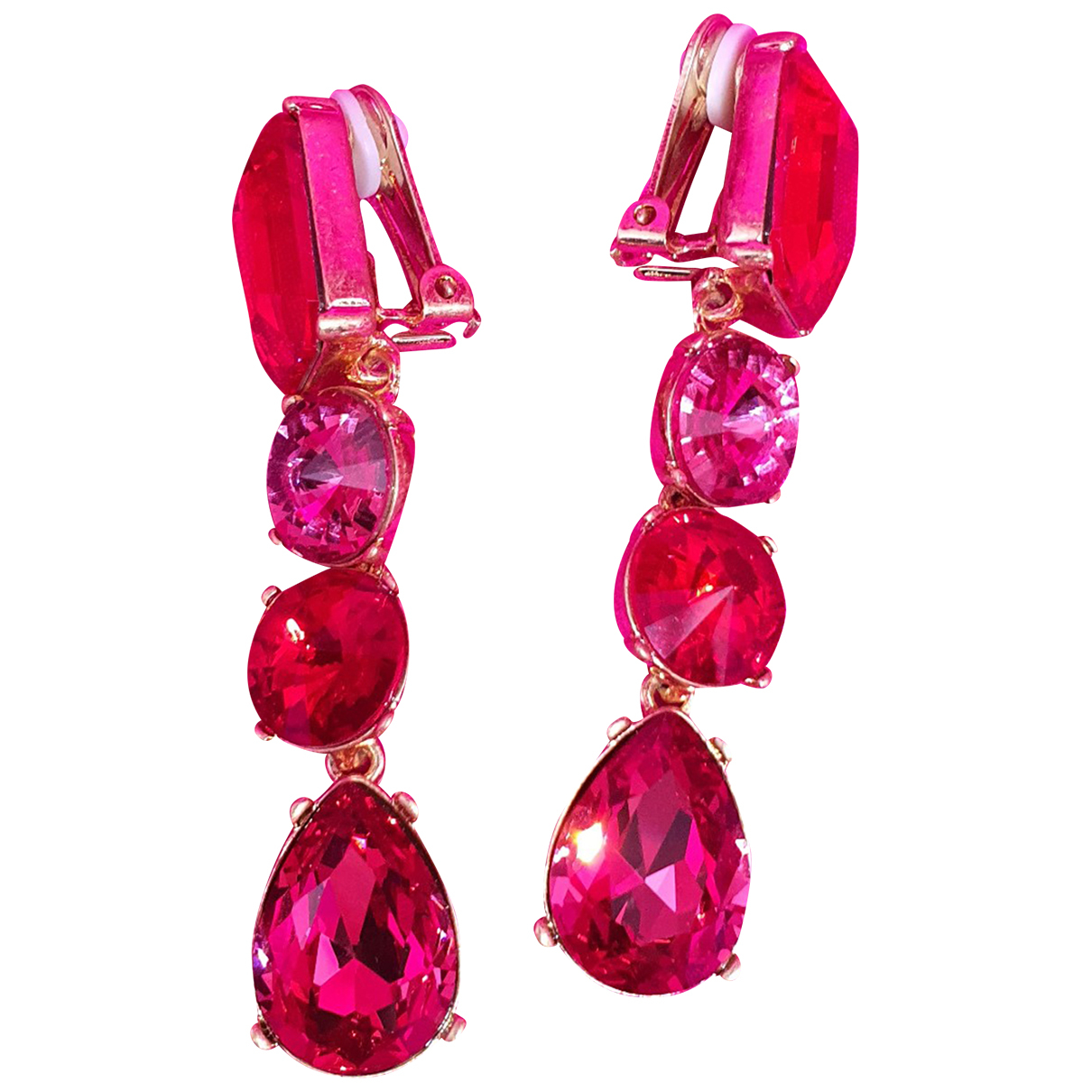 Oscar De La Renta \N Red Crystal Earrings for Women \N