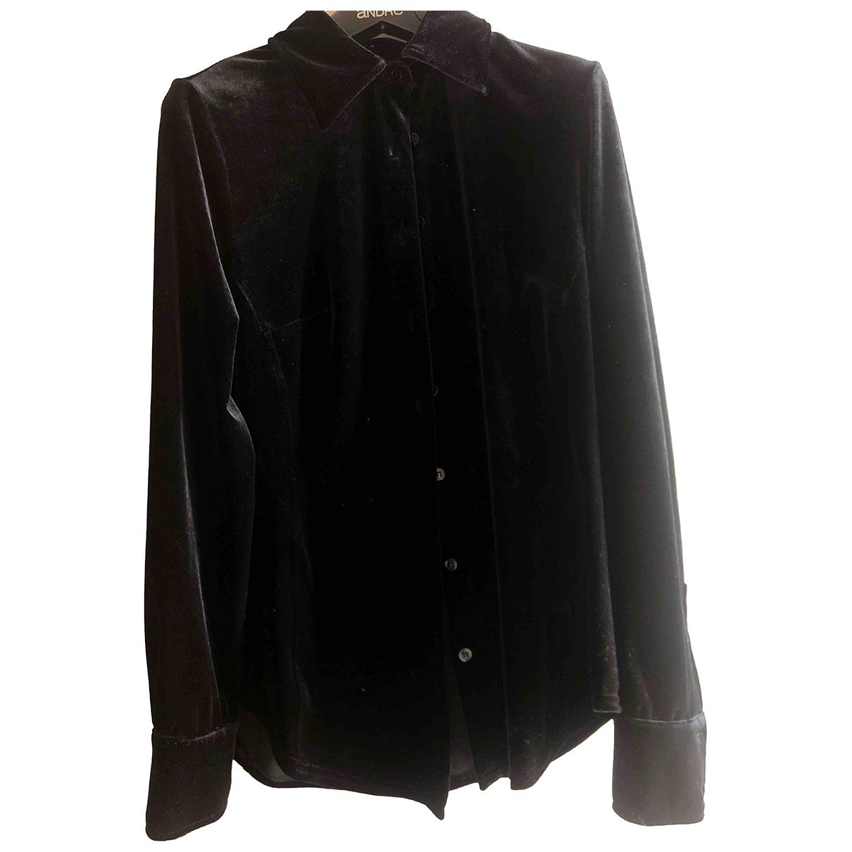 Max & Co \N Black Velvet  top for Women 40 IT
