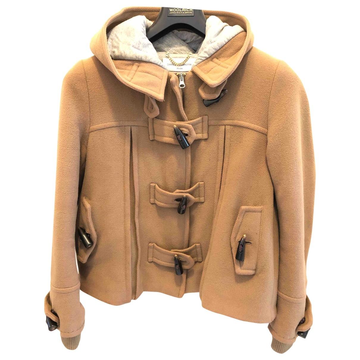 Daniele Alessandrini \N Camel Wool coat for Women 44 IT
