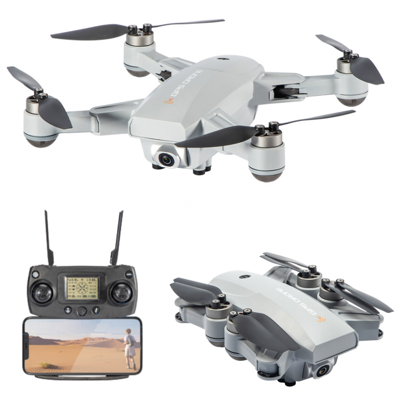 JJRC X16 6K GPS RC Drone Gray One Battery with Bag