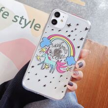 Star & Unicorn Clear iPhone Case