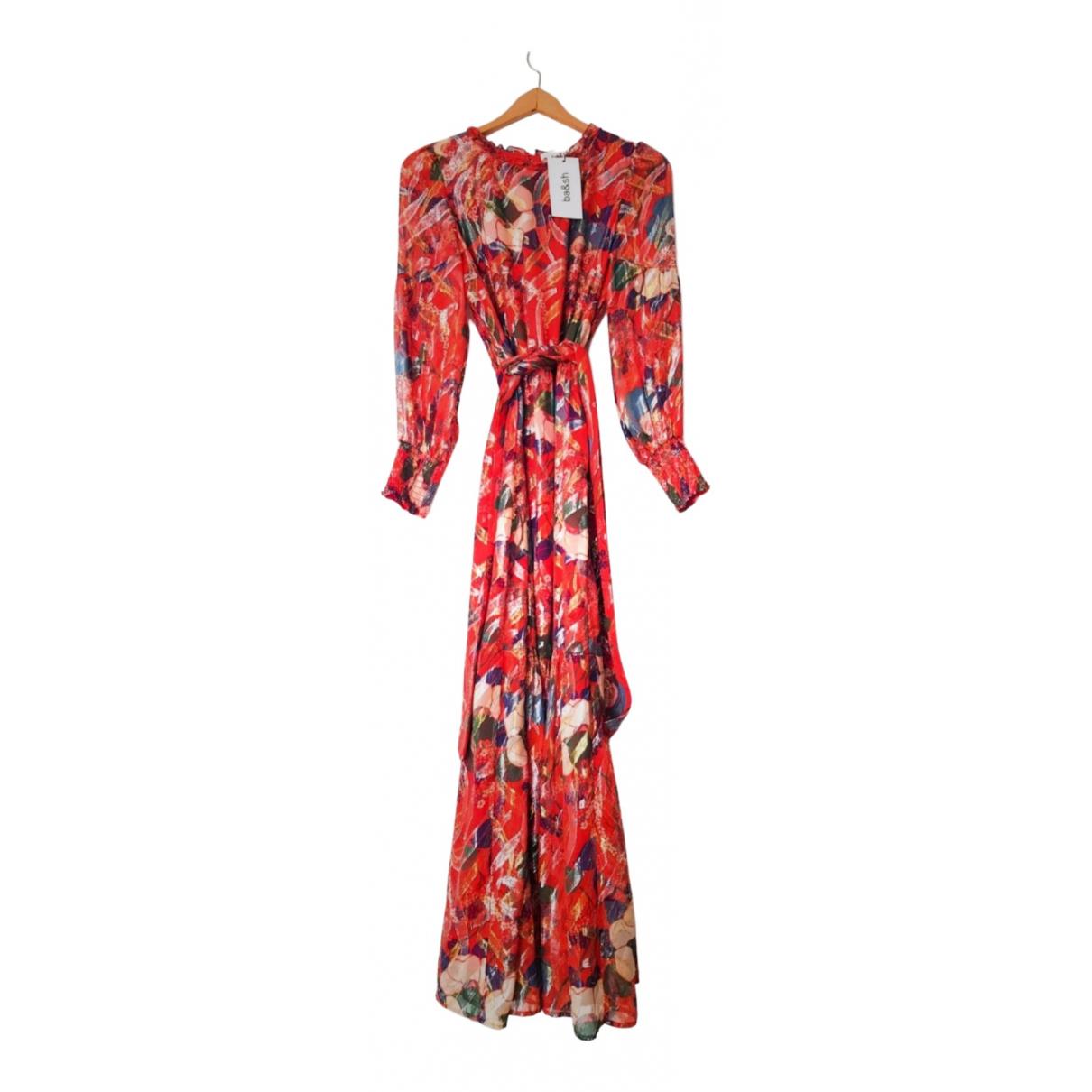 Ba&sh Spring Summer 2020 Red Silk dress for Women 36 FR