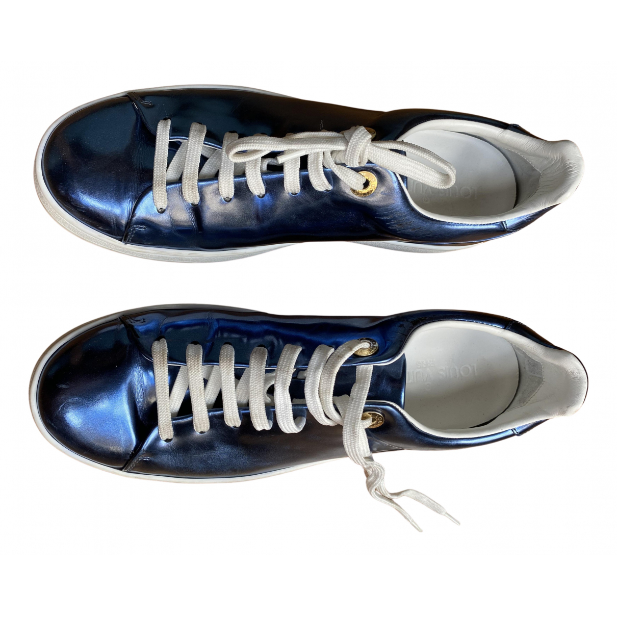 Louis Vuitton \N Metallic Patent leather Trainers for Women 38 EU