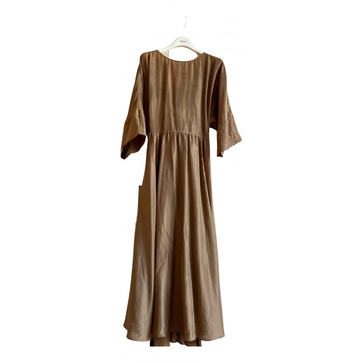 Jucca \N Brown Silk dress for Women 40 IT