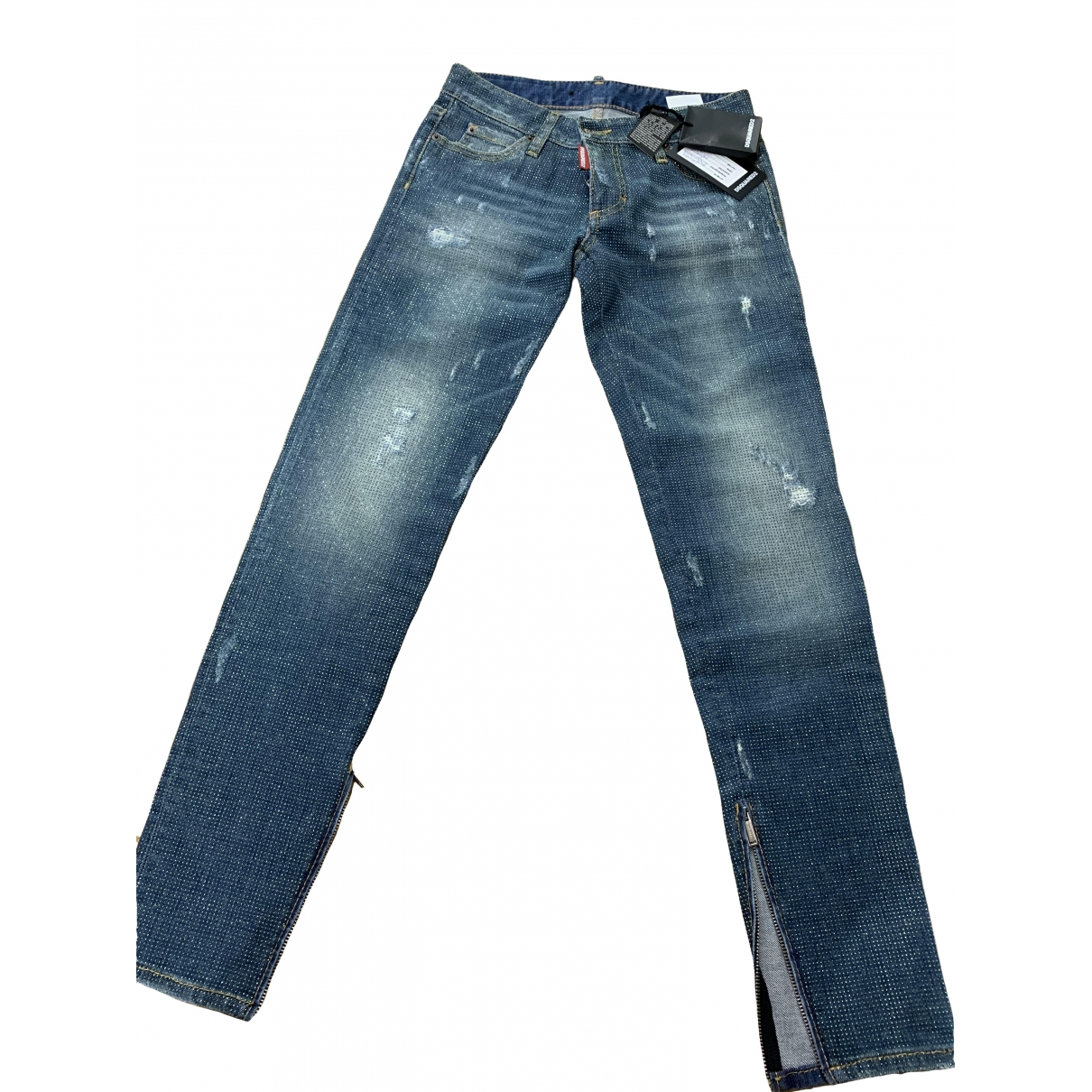 Dsquared2 \N Blue Cotton - elasthane Jeans for Women 36 FR