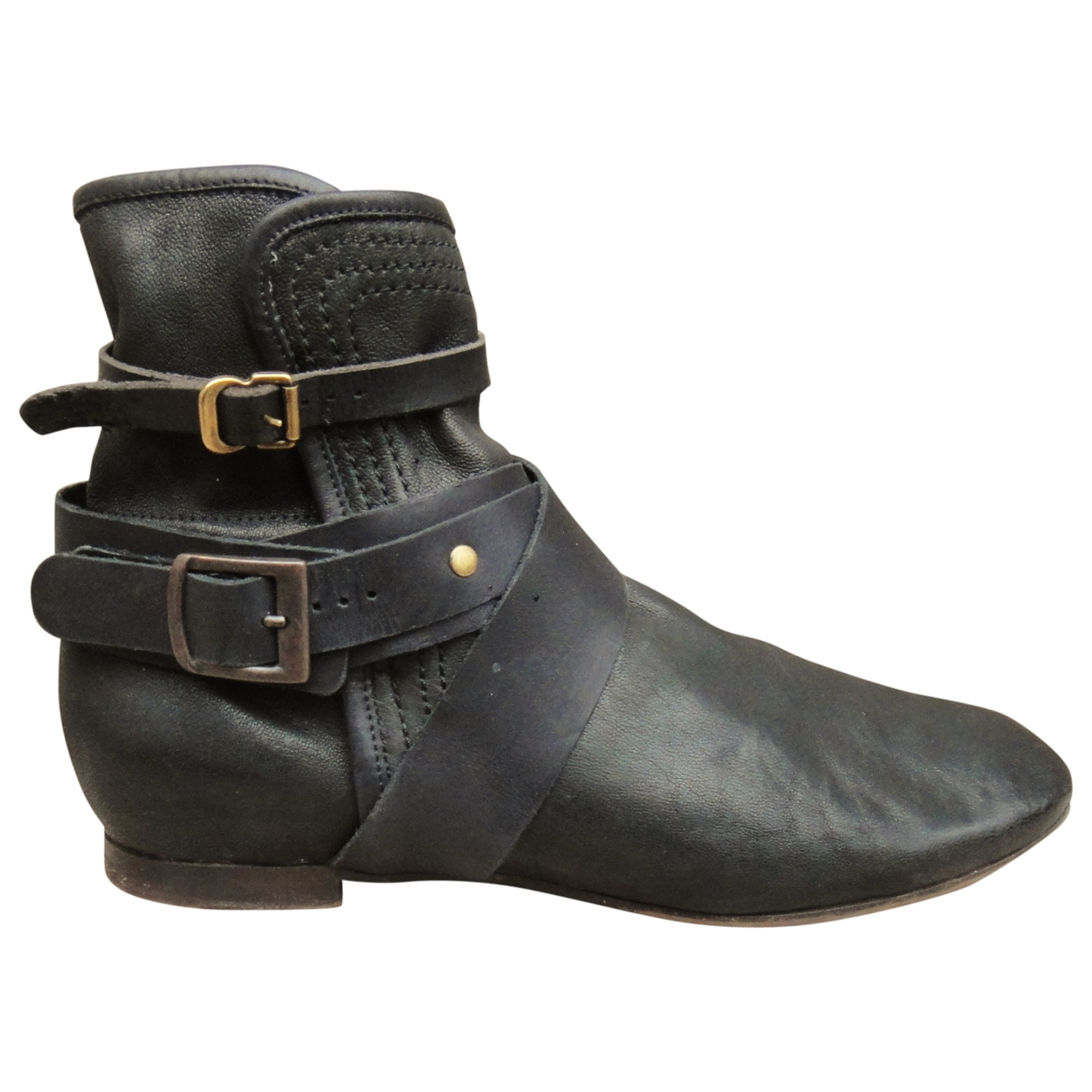 Chloé \N Black Leather Ankle boots for Women 38.5 EU