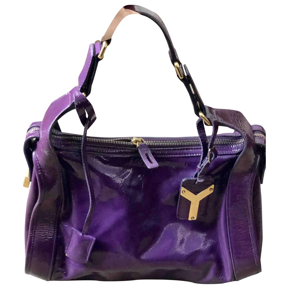 Saint Laurent \N Purple Patent leather handbag for Women \N