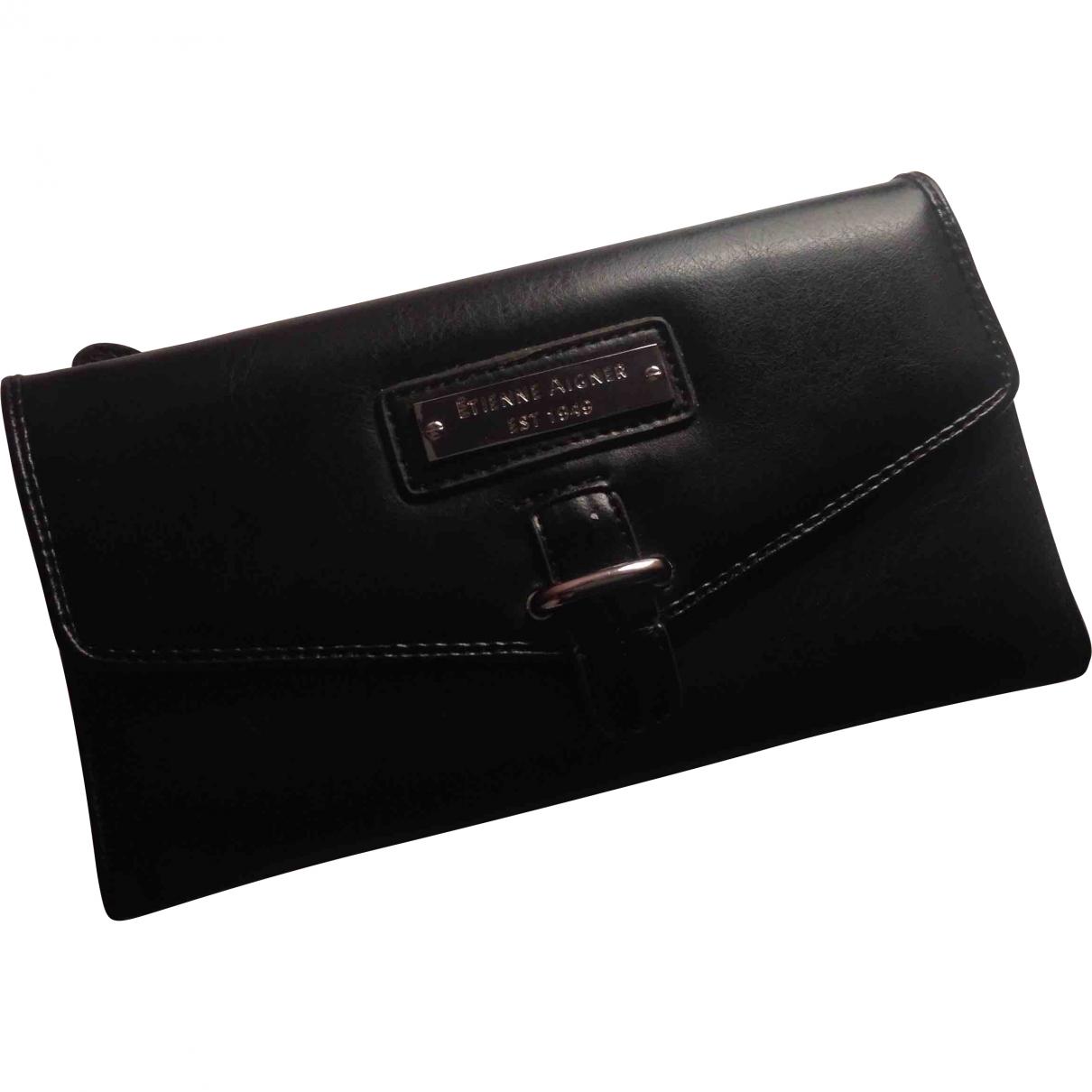 Etienne Aigner \N Black Leather wallet for Women \N