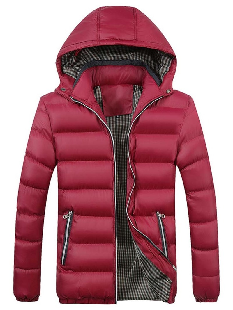 Ericdress Hooded Patchwork Zipper Korean Style Men's Down Jacket