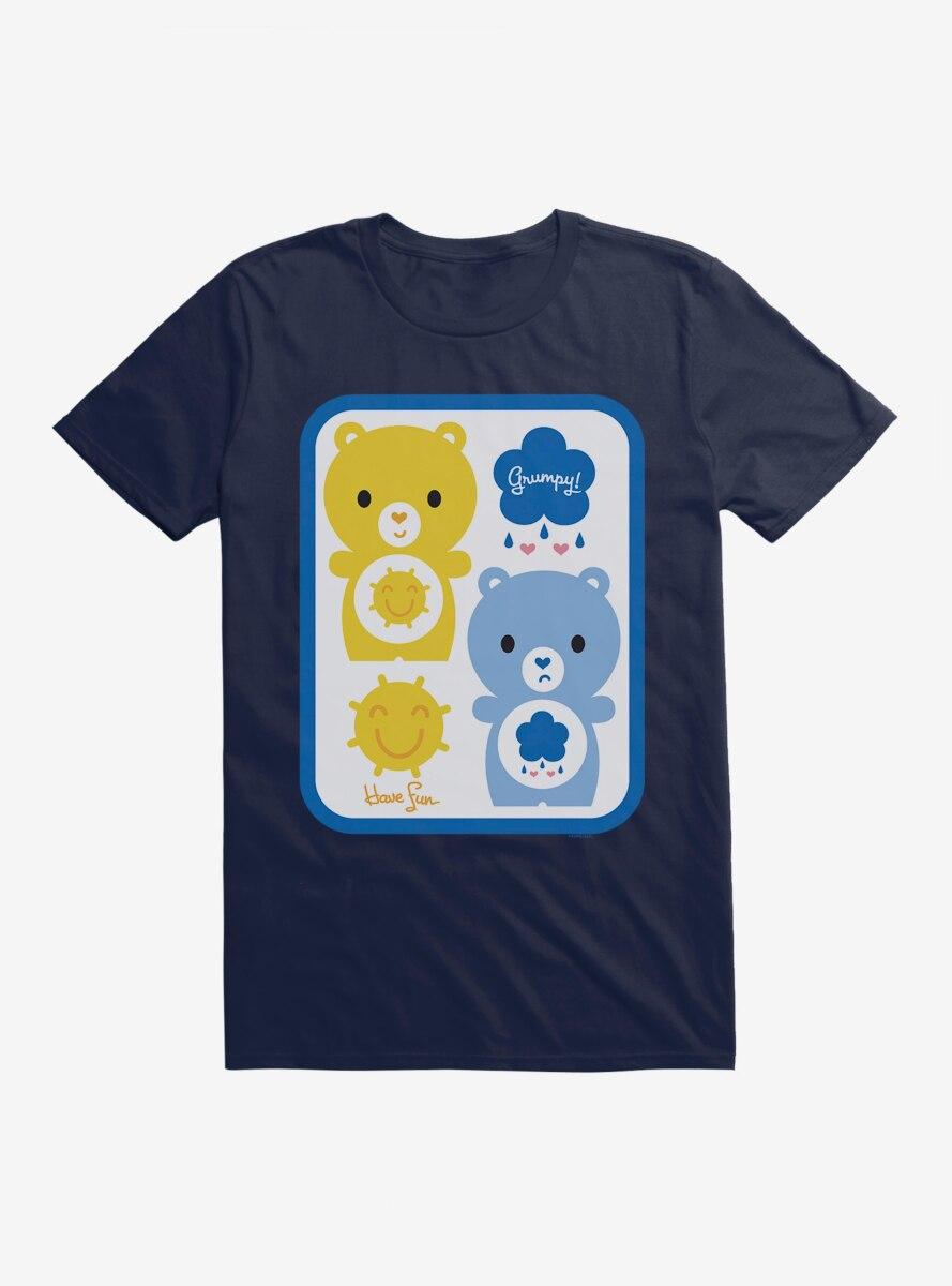 Care Bears Cartoon Funshine Grumpy Icons T-Shirt