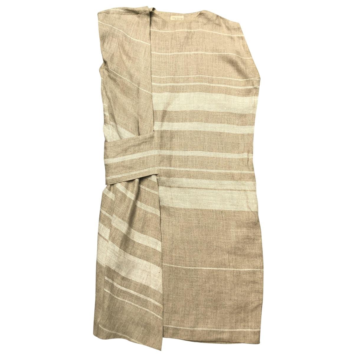 Gianni Versace \N Beige Linen dress for Women 40 IT