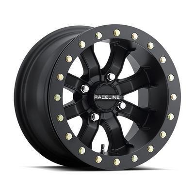 Raceline A71B Mamba Beadlock UTV Wheel, 14x8 with 4 on 137 Bolt Pattern - Satin Black - A71B-48037-44