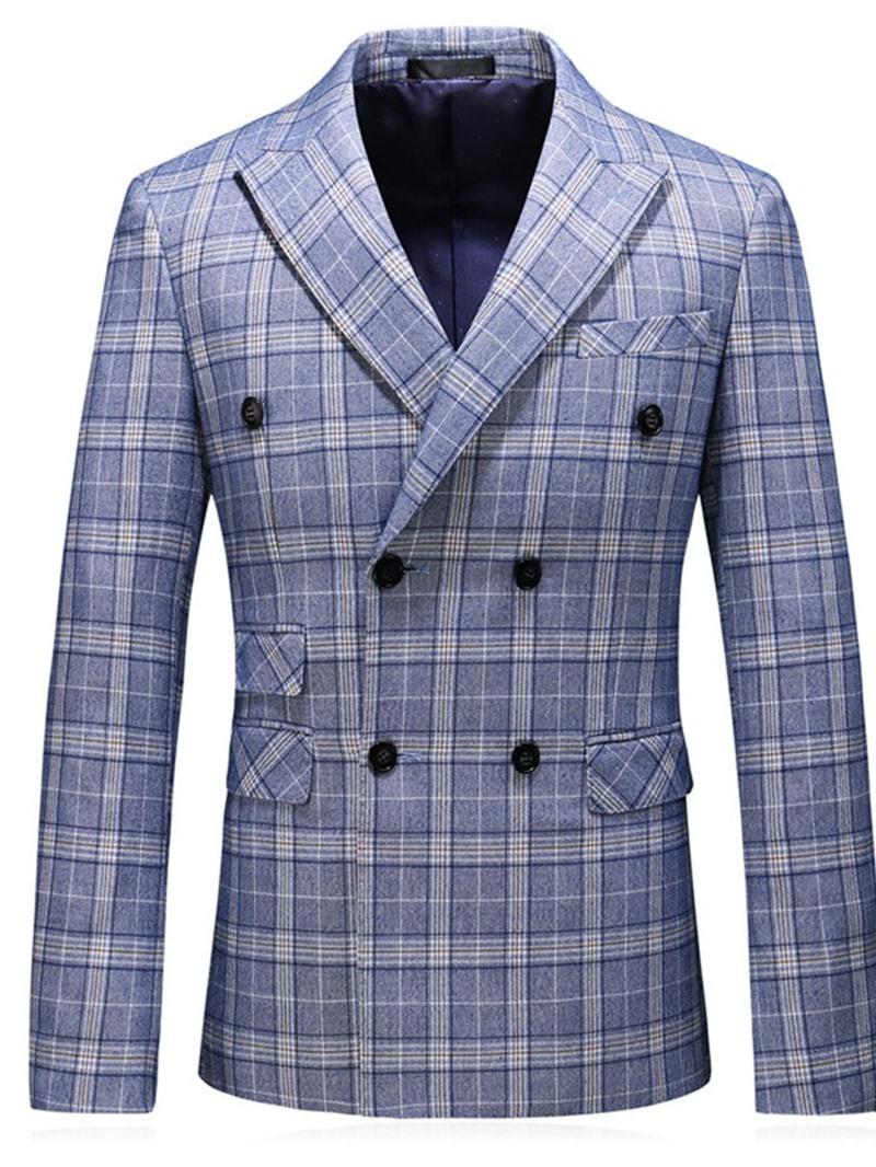 Ericdress Plaid Notched Lapel Fashion Leisure Men's Blazers