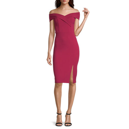 Premier Amour Sleeveless Sheath Dress, 2 , Red