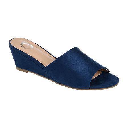 Journee Collection Womens Pavan Slip-On Shoe, 10 Medium, Blue