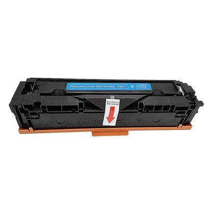 Compatible HP 202X CF501X cartouche de toner cyan haute capacité - boîte économique