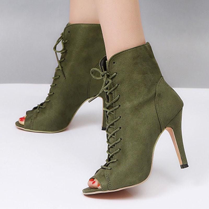 Ericdress Peep Toe Stiletto Heel Cross Strap Ultra-High Heel(≥8cm) Thin Shoes