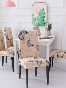 Butterfly Print Stretchy Chair Cover