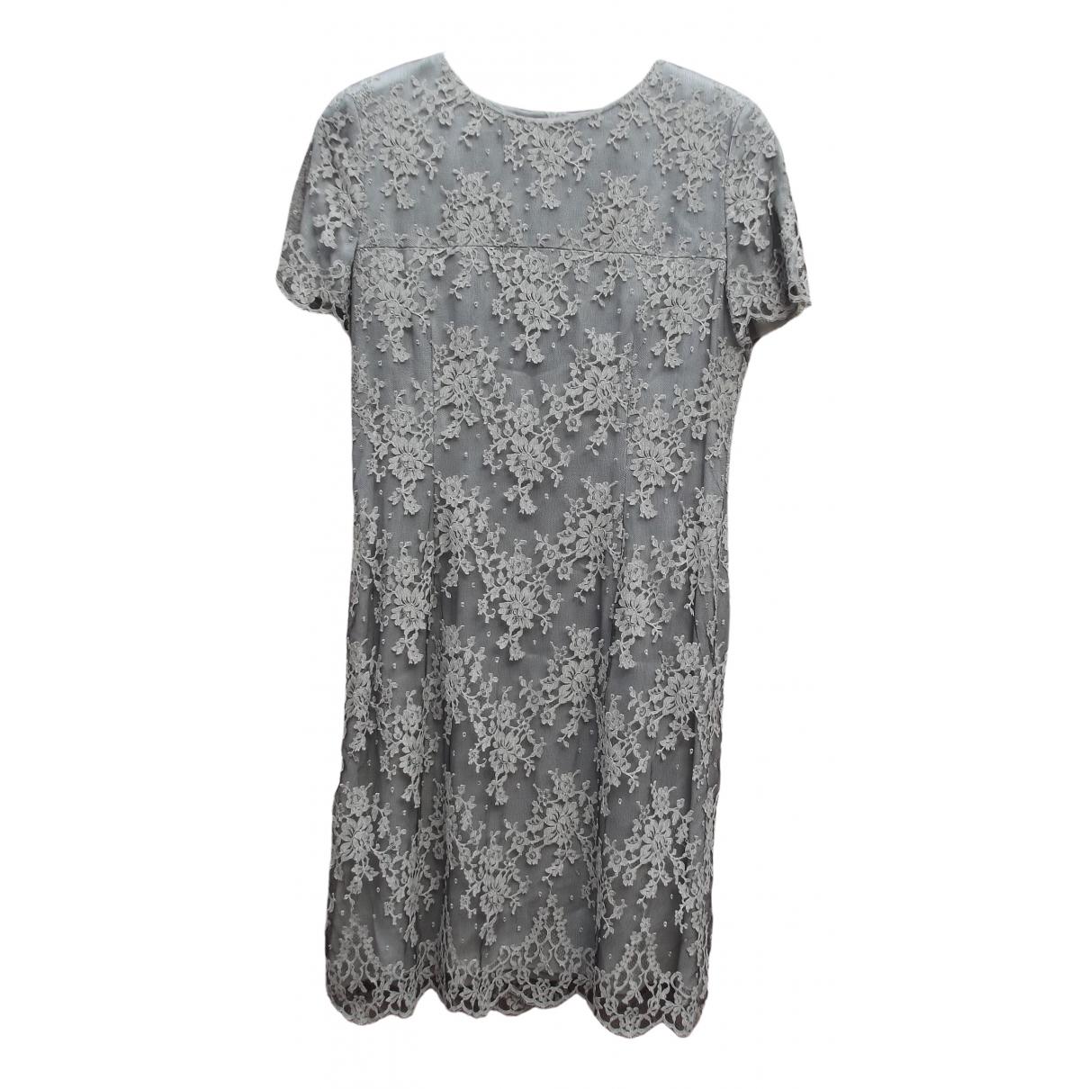 Valentino Garavani \N Grey Lace dress for Women 46 IT