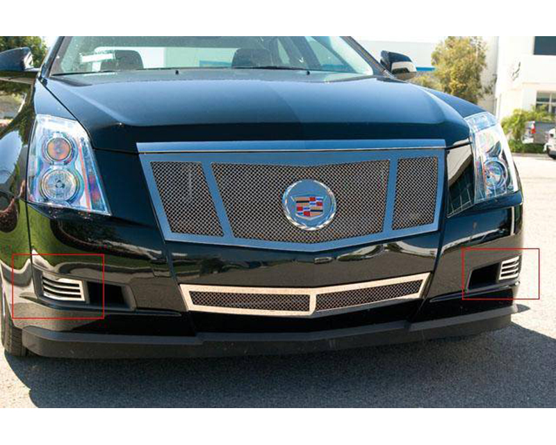 2008-2013 Cadillac Upper Class Bumper Grille, Polished, 2 Pc, Overlay - PN #55198