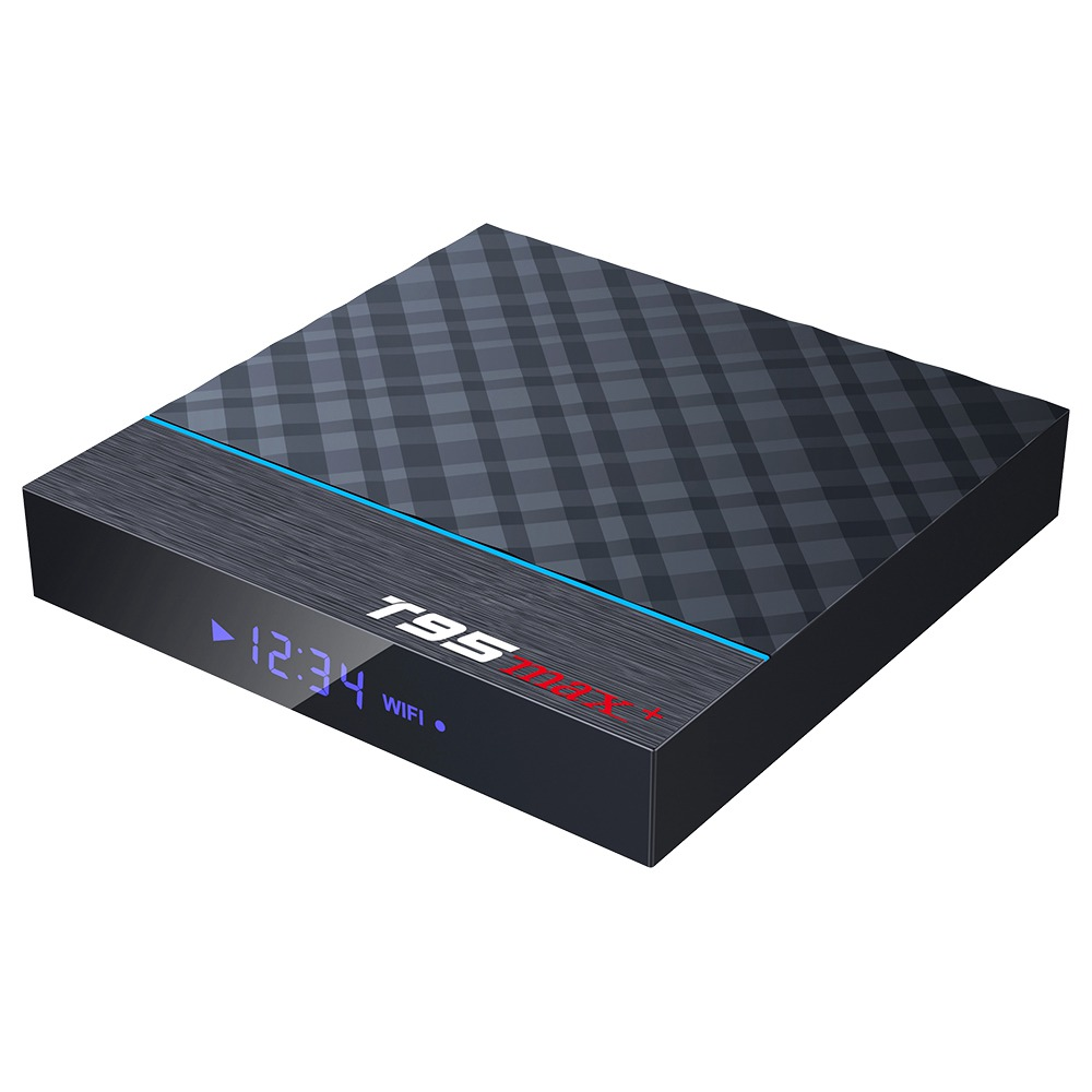 T95 MAX+ Amlogic S905x3 Android 9.0 8K Video Decode Gaming TV Box Google Play 4GB/64GB USB3.0 2.4G+5G WiFi Bluetooth LAN